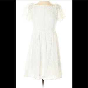 White lace fit and flare dress!